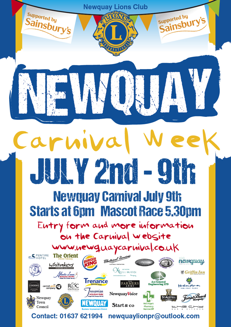 Newquay Lions Carnival 2016small