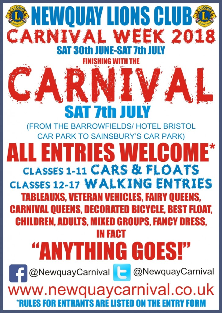 Newquay Carnival 7th July 2018