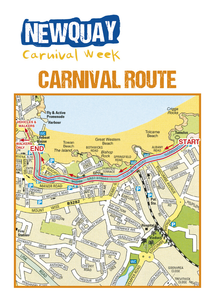 Newquay Carnival Route