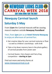 Carnival launch - 5th May