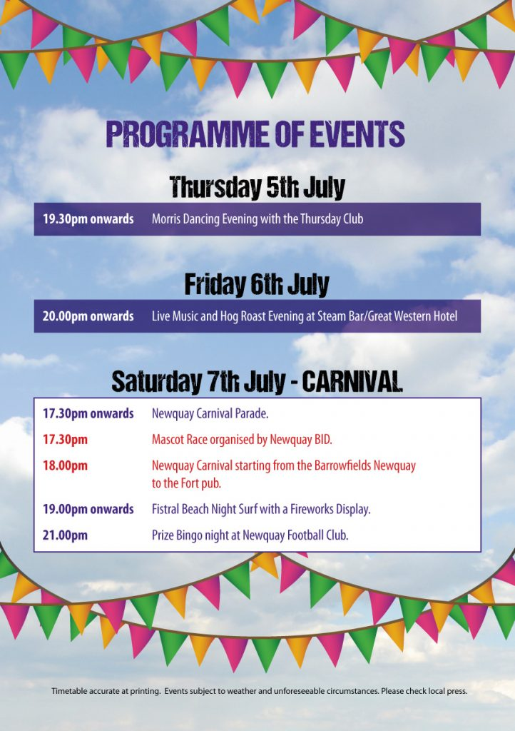 Newquay Lions - Carnival programme 2018. Carnival Week