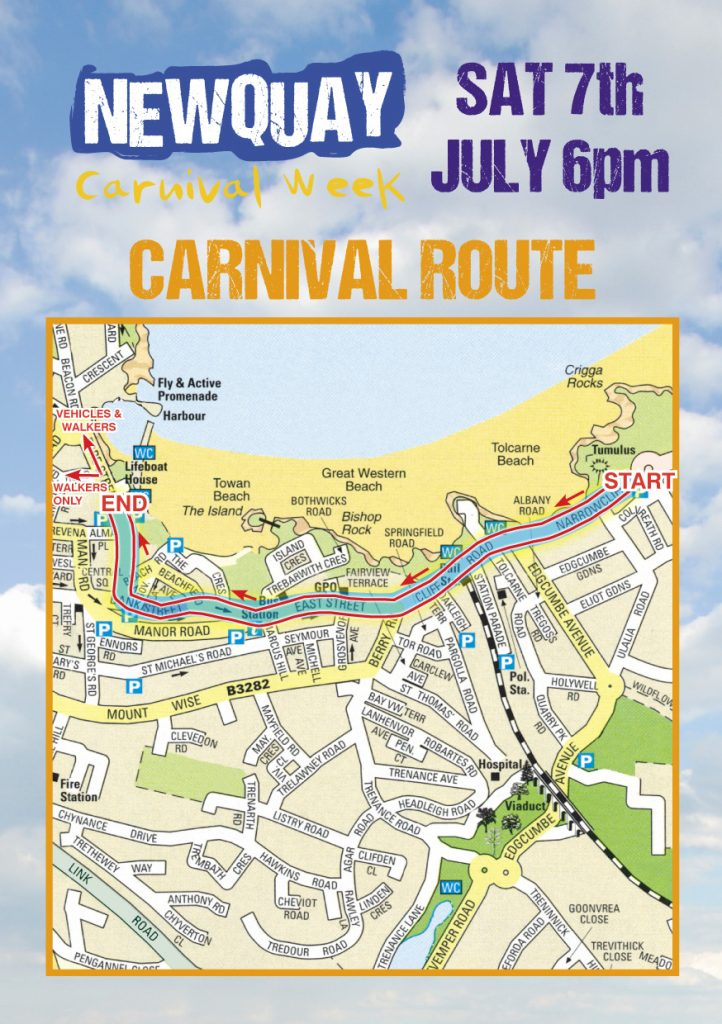 Newquay Lions - Carnival route