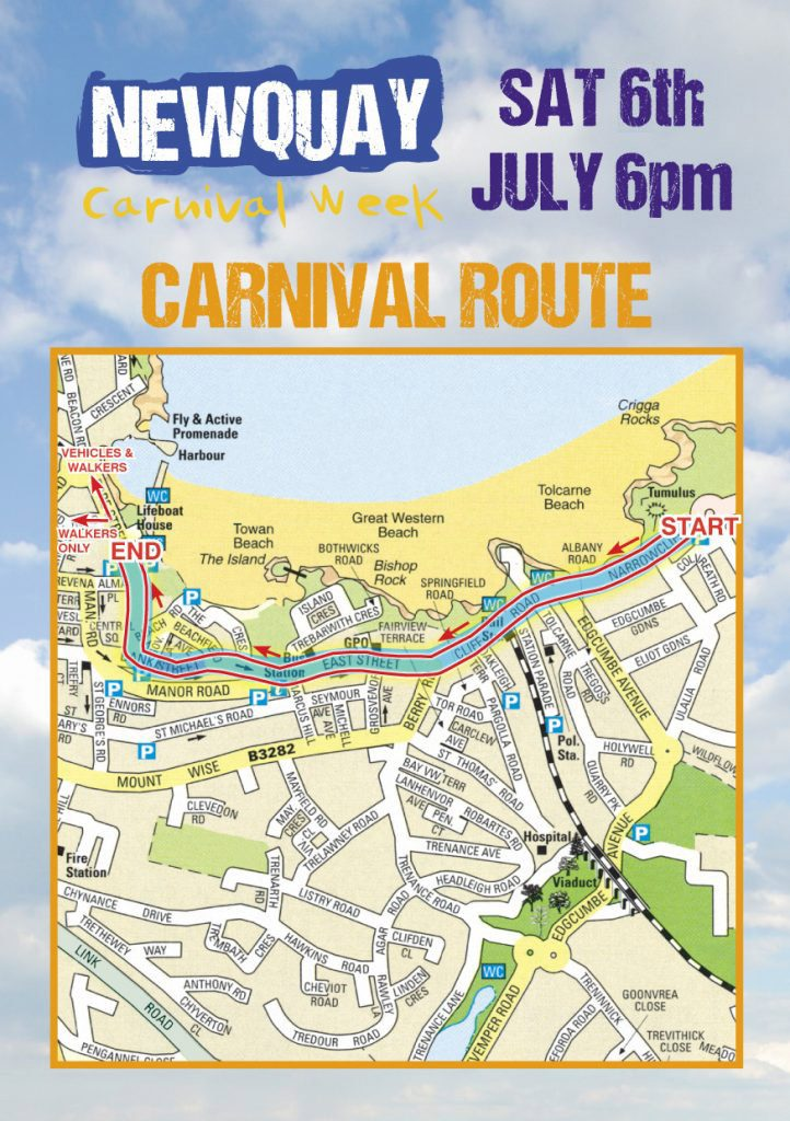 Newquay Lions Carnival Map
